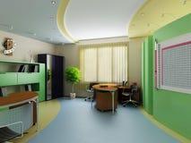 Binnenland van een modern kabinet stock illustratie