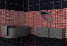 Binnenland van een moderne badkamers Stock Afbeeldingen