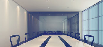 Binnenland van een moderne conferentieruimte Stock Foto