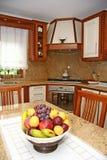 Binnenland van een moderne keuken royalty-vrije stock afbeelding