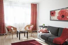 Binnenland van een moderne woonkamer Stock Afbeelding