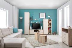 Binnenland van een moderne woonkamer kleur stockfoto\'s ...