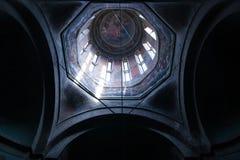 Binnenland van een orthodoxe kerk Stock Afbeelding