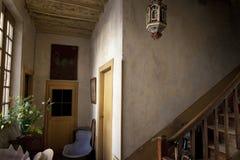 Binnenland van een oud huis Royalty-vrije Stock Foto's