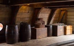 Binnenland van een oud schip Royalty-vrije Stock Foto's