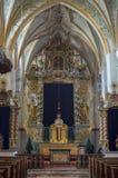 Binnenland van een oude kerk Royalty-vrije Stock Fotografie