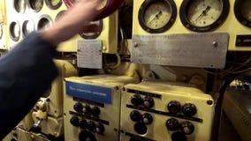 Binnenland van een oude onderzee?r stock footage