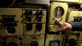 Binnenland van een oude onderzee?r stock video