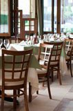 Binnenland van een restaurant Royalty-vrije Stock Foto's