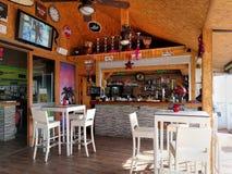 Binnenland van een restaurant spanje Stock Foto