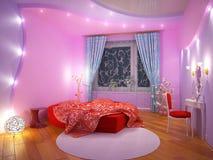 Binnenland van een slaapkamer voor het meisje royalty-vrije illustratie