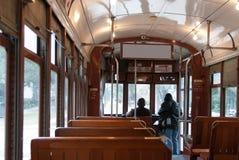 Binnenland van een tram van New Orleans Royalty-vrije Stock Foto's