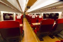 Binnenland van een treinvervoer Stock Fotografie