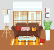 Binnenland van een woonkamer Royalty-vrije Stock Afbeelding