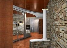 Binnenland van een zaal vector illustratie