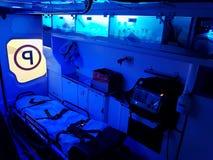 Binnenland van een ziekenwagen stock afbeelding