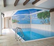 Binnenland van een zwembad Royalty-vrije Stock Foto's