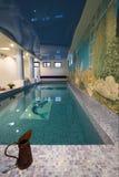 Binnenland van een zwembad Stock Afbeelding
