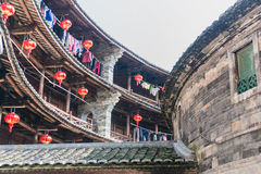 Binnenland van Fujian-tulou Stock Foto's