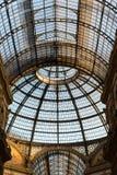 Binnenland van galerij Victor Emmanuel II, winkelcomplex Stock Fotografie