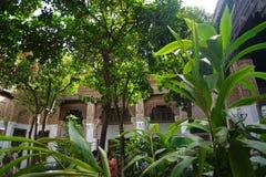 Binnenland van Gr Bahia Palace in Marrakech royalty-vrije stock afbeeldingen