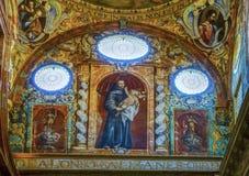 Binnenland van Grote Moskee van Cordoba, Cordoba, Andalucia, Spanje royalty-vrije stock fotografie
