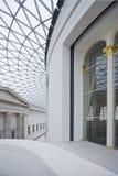 Binnenland van Grote Zaal in British Museum. Royalty-vrije Stock Afbeelding