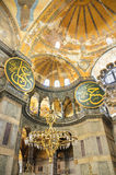 Binnenland van Hagia Sofia op Agoust 20, 2013 in Istanboel, Turkije Royalty-vrije Stock Foto