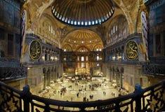 Binnenland van Hagia Sophia in Istanboel Royalty-vrije Stock Fotografie