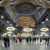 Binnenland van Hagia Sophia in Istanboel Stock Afbeelding