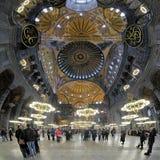 Binnenland van Hagia Sophia in Istanboel Stock Foto's