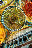 Binnenland van Hagia Sophia in Istanboel, Turkije stock foto