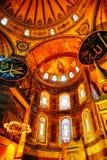 Binnenland van Hagia Sophia in Istanboel, Turkije royalty-vrije stock foto