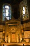 Binnenland van Hagia Sophia in Istanboel, Turkije. Royalty-vrije Stock Fotografie