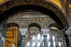 Binnenland van Hagia Sophia, Istanboel, Turkije Royalty-vrije Stock Afbeeldingen