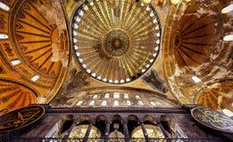 Binnenland van Hagia Sophia, Istanboel, Turkije Stock Afbeeldingen