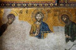 Binnenland van Hagia Sophia in Istanboel, Turkije Royalty-vrije Stock Afbeelding