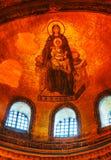 Binnenland van Hagia Sophia in Istanboel, Turkije vroeg in mornin royalty-vrije stock foto