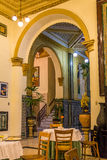 Binnenland van Havanas-Hotel Inglaterra in Cuba Royalty-vrije Stock Foto