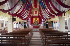 Binnenland van Heilige hartkerk in Ooty Stock Foto