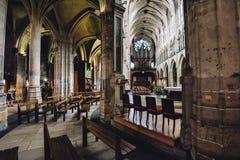 Binnenland van Heilige Pierre de Montmartre Church Stock Foto's
