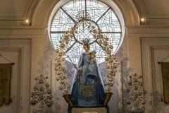 Binnenland van Heilige Walburga Church, Brugge, Belgique, Stock Afbeelding