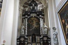 Binnenland van Heilige Walburga Church, Brugge, Belgique, Royalty-vrije Stock Foto