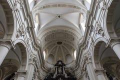 Binnenland van Heilige Walburga Church, Brugge, Belgique, Stock Foto