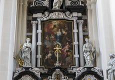 Binnenland van Heilige Walburga Church, Brugge, Belgique, Royalty-vrije Stock Afbeeldingen