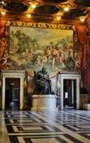 Binnenland van het Capitoline Museum, Rome Stock Foto's