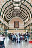 Binnenland van het Centrale Postkantoor van Saigon, Vietnam Royalty-vrije Stock Fotografie