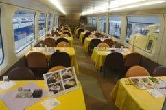 Binnenland van het dineren trein Royalty-vrije Stock Foto's