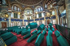 Binnenland van het Graf van Sultan Selim II royalty-vrije stock fotografie