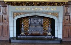 Binnenland van het kasteel van Cardiff royalty-vrije stock fotografie
